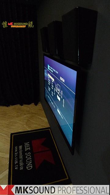 MP150與電視搭配安裝側面