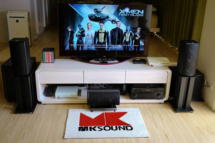 M&K SOUND 經典主喇叭LCR-750搭配腳架