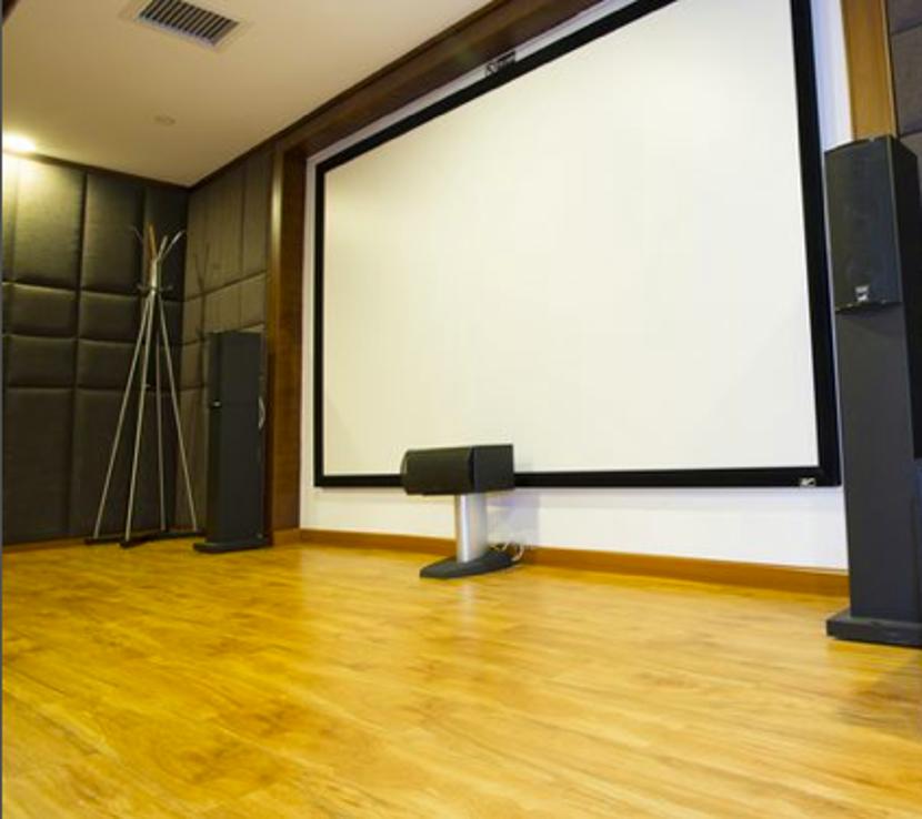 M&K SOUND 經典主喇叭LCR-750搭配投影幕