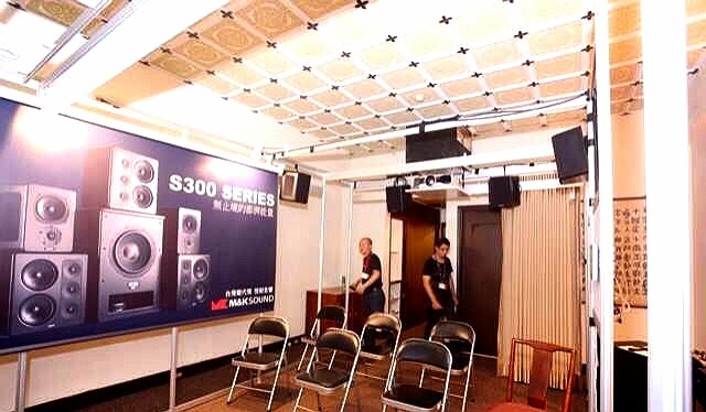 2014台北音響展愷銳展房M&K SOUND旗艦主喇叭S300背板