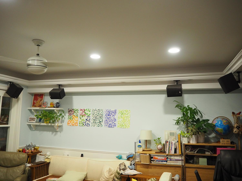 M&K SOUND S300T作天空環繞打造客廳視聽空間