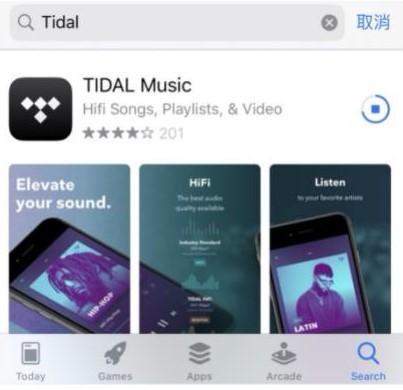App Store搜尋TIDAL