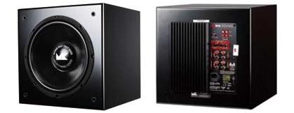 M&K SOUND SB-12主動式超低音正背面產品照