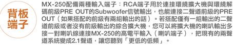 M&K SOUND MX250 背板端子