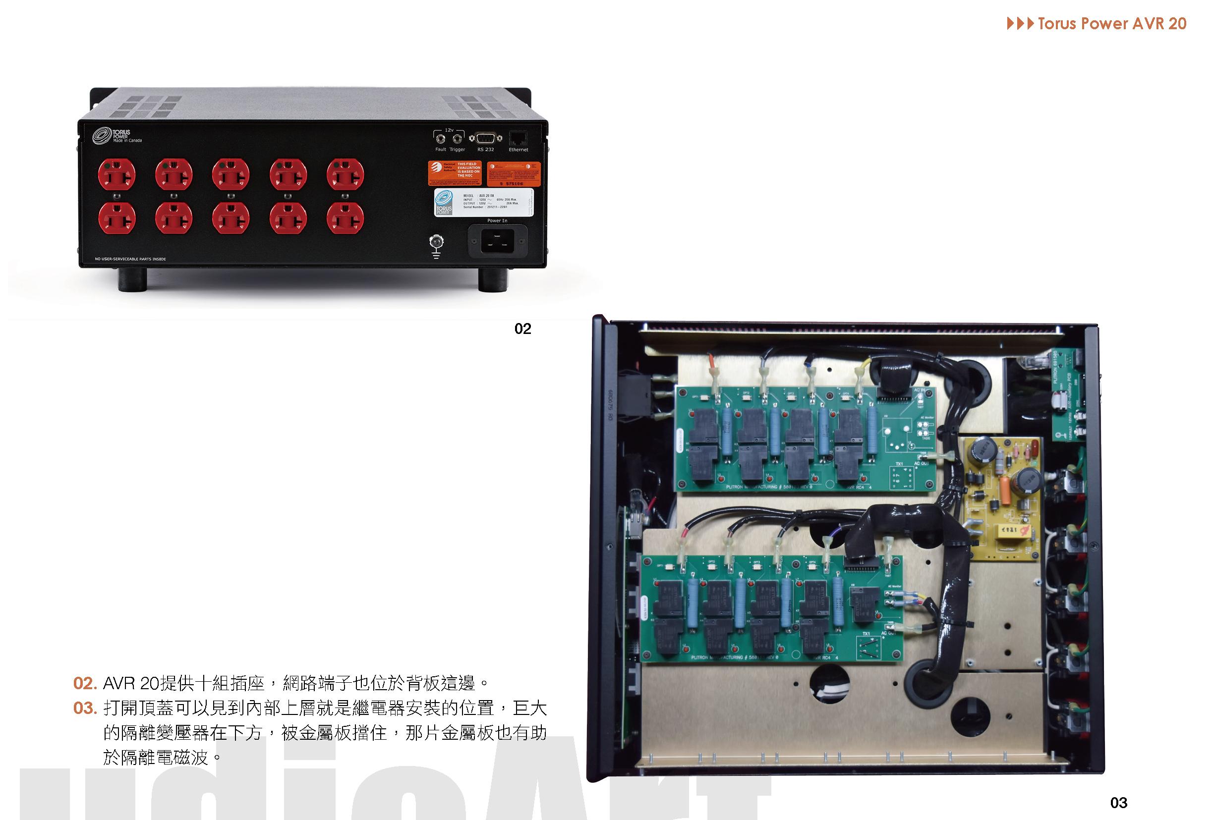 Torus Power AVR 20內部結構剖析