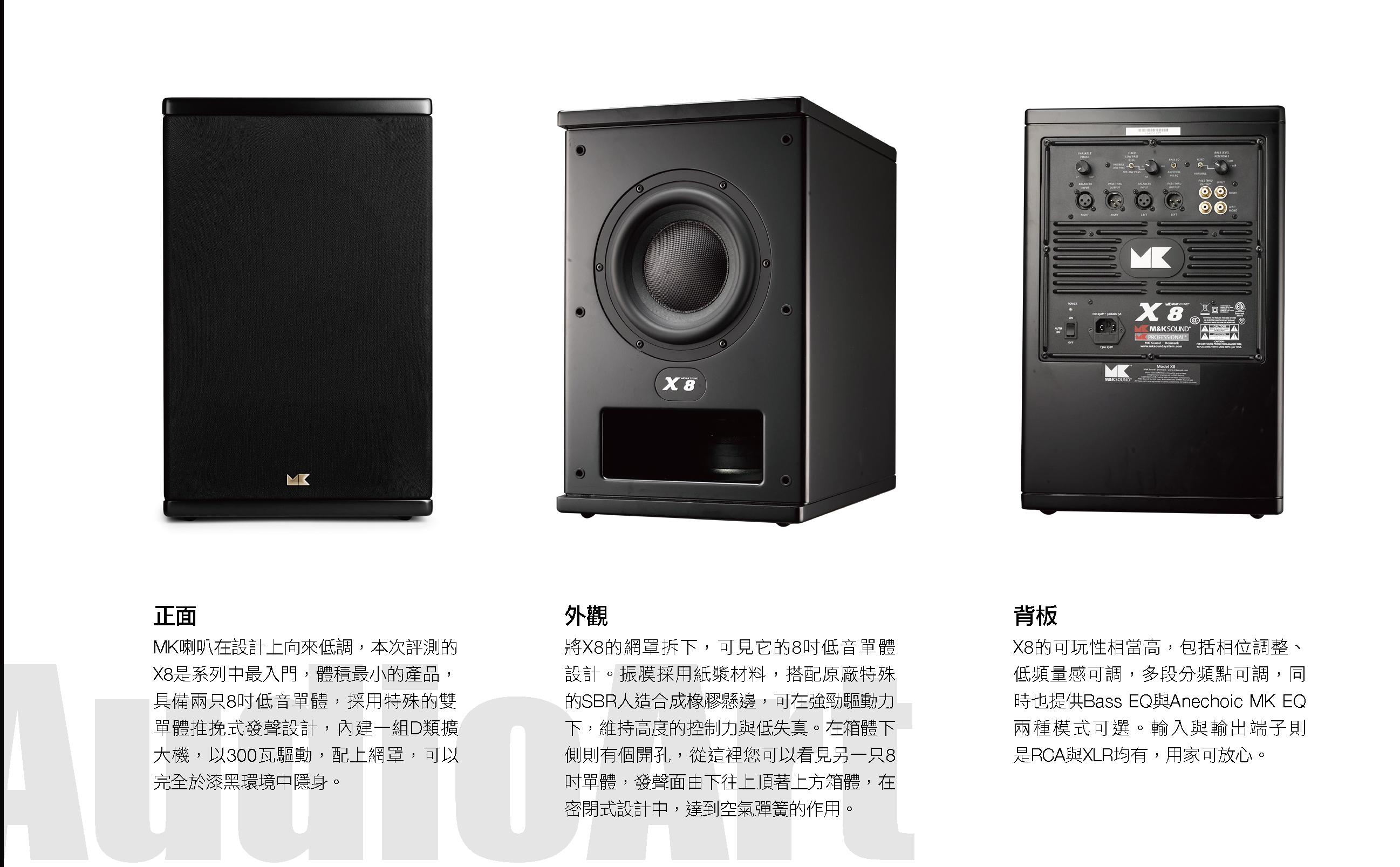 雙推挽主動式超低音X8全覽圖