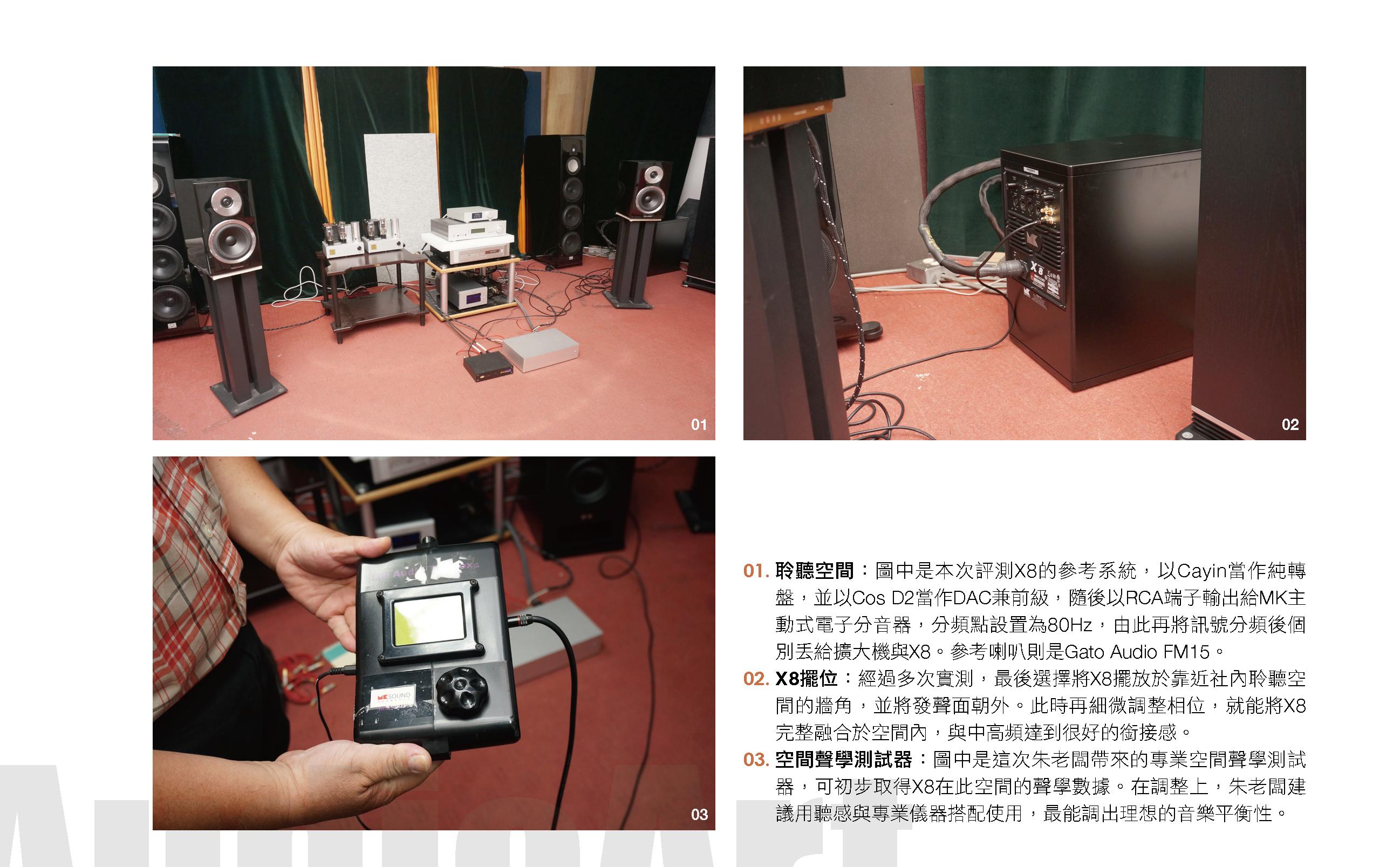 音響論壇視聽室實測X8極低頻滾降曲線